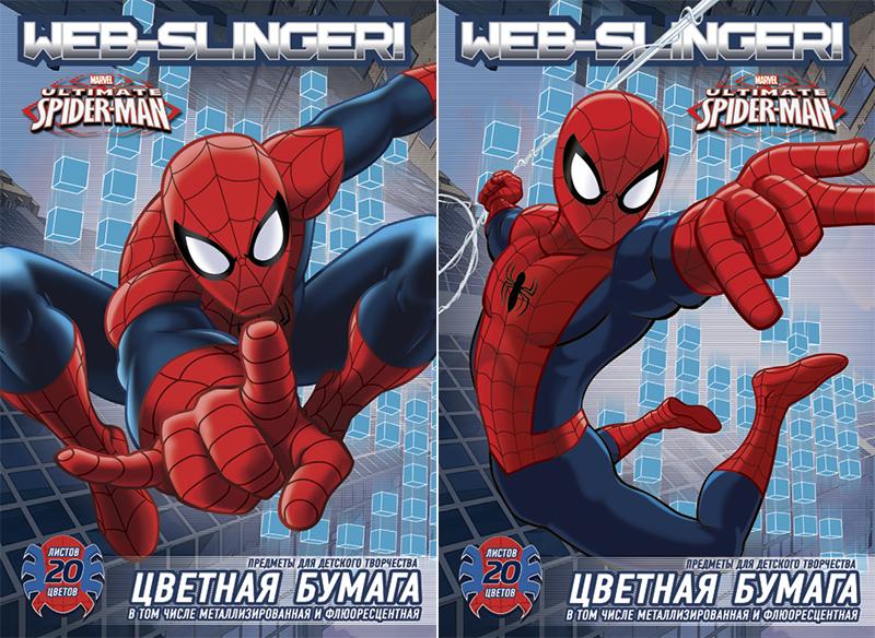 Цветная бумага Spider-Man Web-Slinger, металлизированная, флуоресцентная, 20 цветовSM286/2Цветная бумага Spider-Man Web-Slinger позволит вашему ребенку создавать всевозможные аппликации и поделки. Набор состоит из 10 листов обычной бумаги, 5 листов металлизированной бумаги и 5 листов флуоресцентной бумаги. Цвета: серебро, золото, голубой металлизированный, зеленый металлизированный, розовый металлизированный, желтый флуоресцентный, оранжевый флуоресцентный, салатовый флуоресцентный, голубой флуоресцентный, розовый флуоресцентный, желтый, красный, пурпурный, зеленый, голубой, фиолетовый, коричневый, черный, темно-синий, вишневый. Бумага упакована в две картонные папки, оформленные рисунком с изображением человека-паука. Создание поделок из цветной бумаги поможет ребенку в развитии творческих способностей, кроме того, это увлекательный досуг.