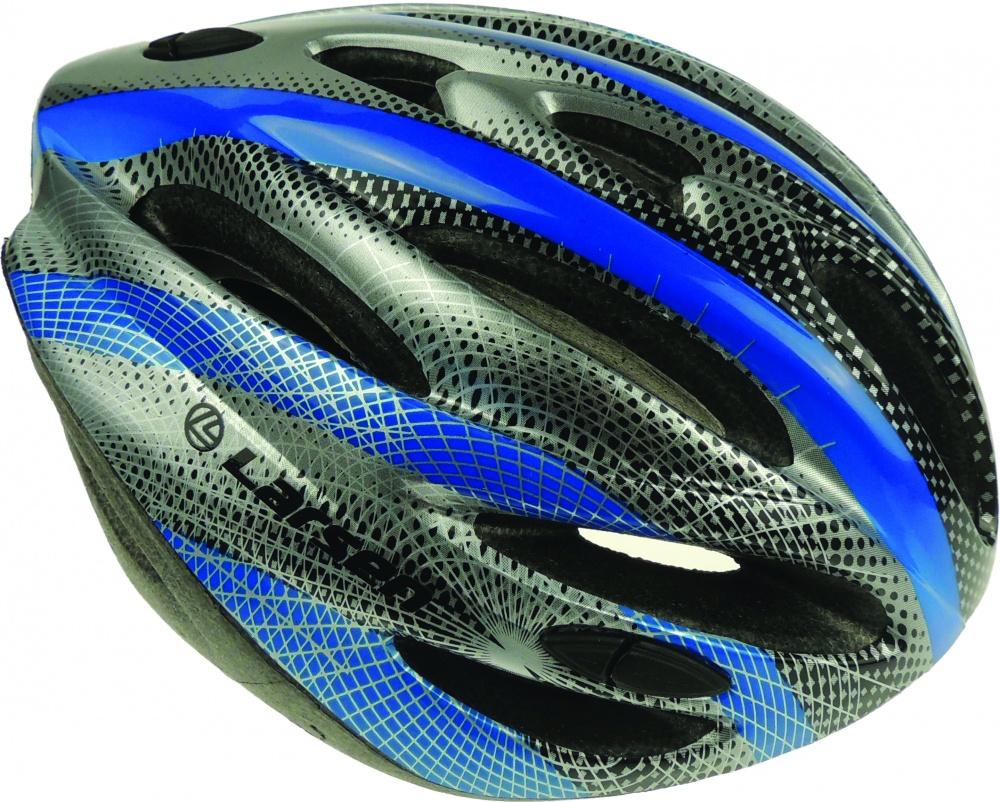 Шлем роликовый раздвижной Larsen, цвет: черный, серый, синий. Размер: 57-60 см261454Роликовый шлем Larsen отлично защищает от травм. Внутри выполнен из пенополиуретана. У шлема есть система вентиляции. Он отлично сидит на голове, благодаря мягким вставкам на внутренней стороне. Застегивается небольшим ремешком на подбородке. Внутренний объем головы можно отрегулировать.