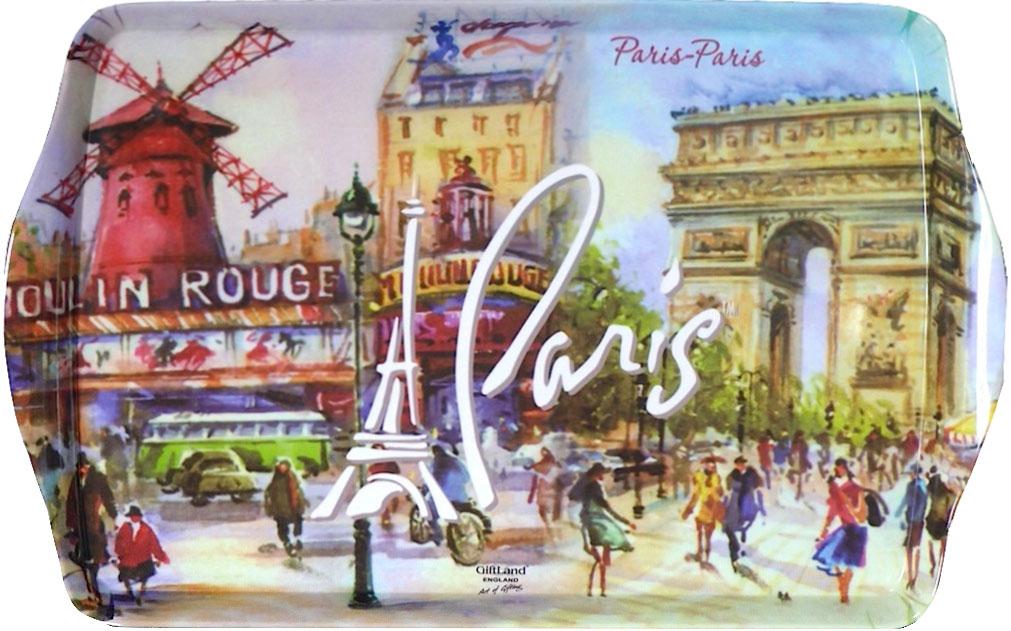 Поднос сервировочный GiftLand Париж-Париж, 38,8 x 24 смML-001 PparПрямоугольный поднос GiftLand Париж-Париж выполнен из высококачественного, жаропрочного пластика и украшен изображением Парижа. Красочный дизайн подноса придаст оригинальность и яркость любой кухне или столовой. Такой поднос станет незаменимым предметом для сервировки стола. Компактный поднос предохранит поверхность стола от грязи и перегрева. Изделие устойчиво к высоким температурам. Можно мыть в посудомоечной машине. Можно использовать в микроволновой печи. Размер подноса: 38,8 см x 24 см. Высота подноса: 2,2 см.