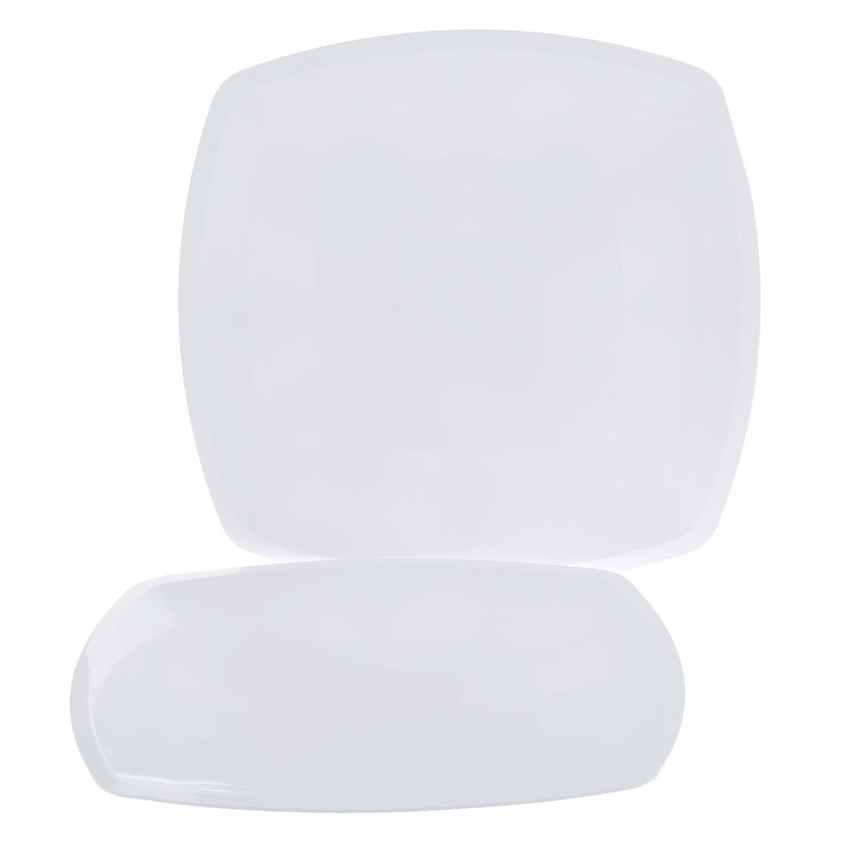 "Набор одноразовых тарелок ""Buffet"", цвет: белый, 30 х 30 см, 3 шт"
