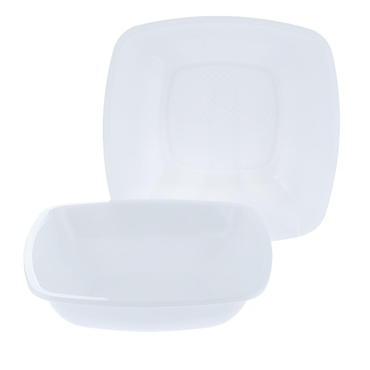 Набор одноразовых глубоких тарелок Buffet, цвет: белый, 18 см х 18 см, 6 шт2801Набор Buffet состоит из 6 глубоких тарелок, выполненных из полипропилена и предназначенных для одноразового использования. Тарелки подойдут для различных пищевых продуктов. Одноразовые тарелки будут незаменимы при поездках на природу, пикниках и других мероприятиях. Они не займут много места, легки и самое главное - после использования их не надо мыть. Размер тарелки: 18 см х 18 см. Высота тарелки: 4,5 см.