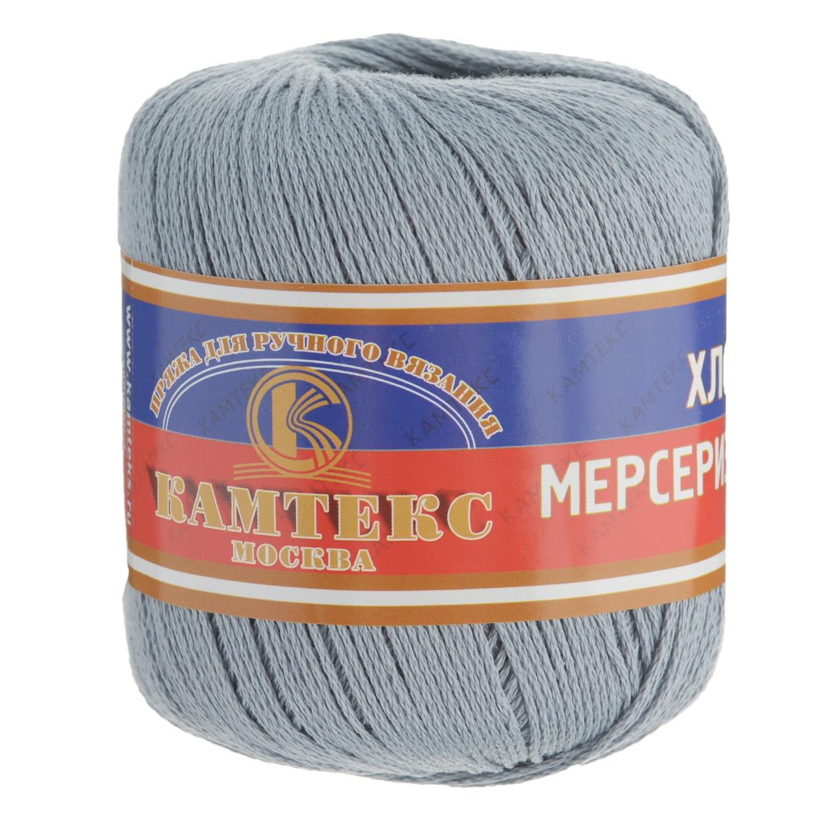 Пряжа для вязания Камтекс Хлопок мерсеризованный, цвет: серый (169), 200 м, 50 г, 10 шт136093_169Пряжа для вязания Камтекс Хлопок мерсеризованный изготовлена из 100% хлопка. Лучшие свойства хлопка: Хлопок мерсеризованный - благодаря тому, что хлопок прошел обработку под названием мерсеризация, пряжа приобретает блеск, ее легко окрасить в яркие устойчивые цвета; - мерсеризованные нити прочнее обычных, а изделия из них меньше мнутся при носке и не садятся при стирке. Такая пряжа предназначена для вязания блузок, футболок, платьев и многого другого. Связанные вещи отличаются стойким цветом, благородным блеском, экологичностью и долговечностью. Элегантность, прочность, комфорт - приятные свойства новых технологий. Подходит для вязания на спицах и крючках 2-4 мм. Состав: 100% хлопок.