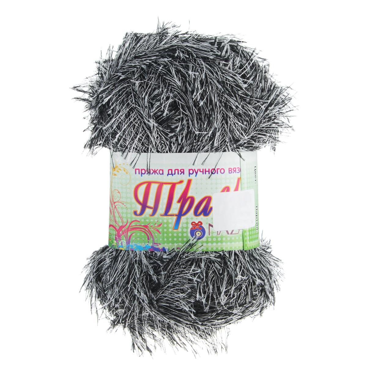 Пряжа для вязания Nazar Травка, цвет: черно-белый (2016), 150 м, 100 г, 5 шт349001_2016Пряжа для вязания Nazar Травка изготовлена из 100% полиэстера. Это - пряжа с ворсом. Изделия выглядят как меховые, на ощупь очень мягкие и шелковистые. Полотно выглядит пушистым с обеих сторон. Из такой пряжи великолепно получаются коврики и пледы, чехлы для мебели, декоративные наволочки и игрушки, шарфы и палантины. Подходит для вязания на спицах и крючках 4 мм. Состав: 100% полиэстер. Толщина нити: 1,5 мм.