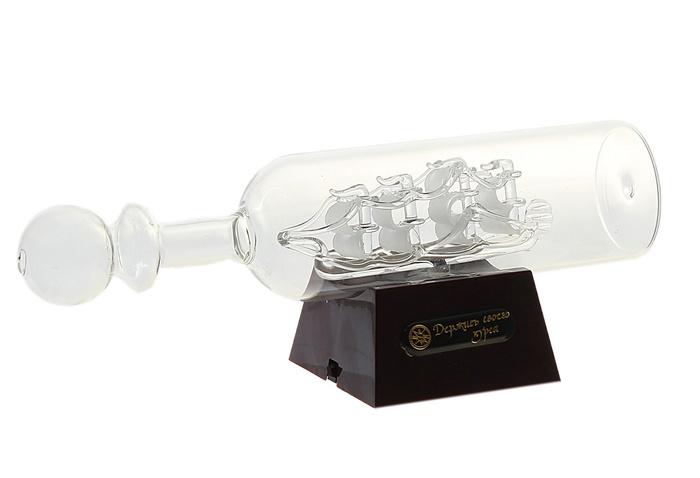"""Sima-land Корабль сувенирный в бутылке """"Держись своего курса"""", с подсветкой, длина 20 см. 427100"""