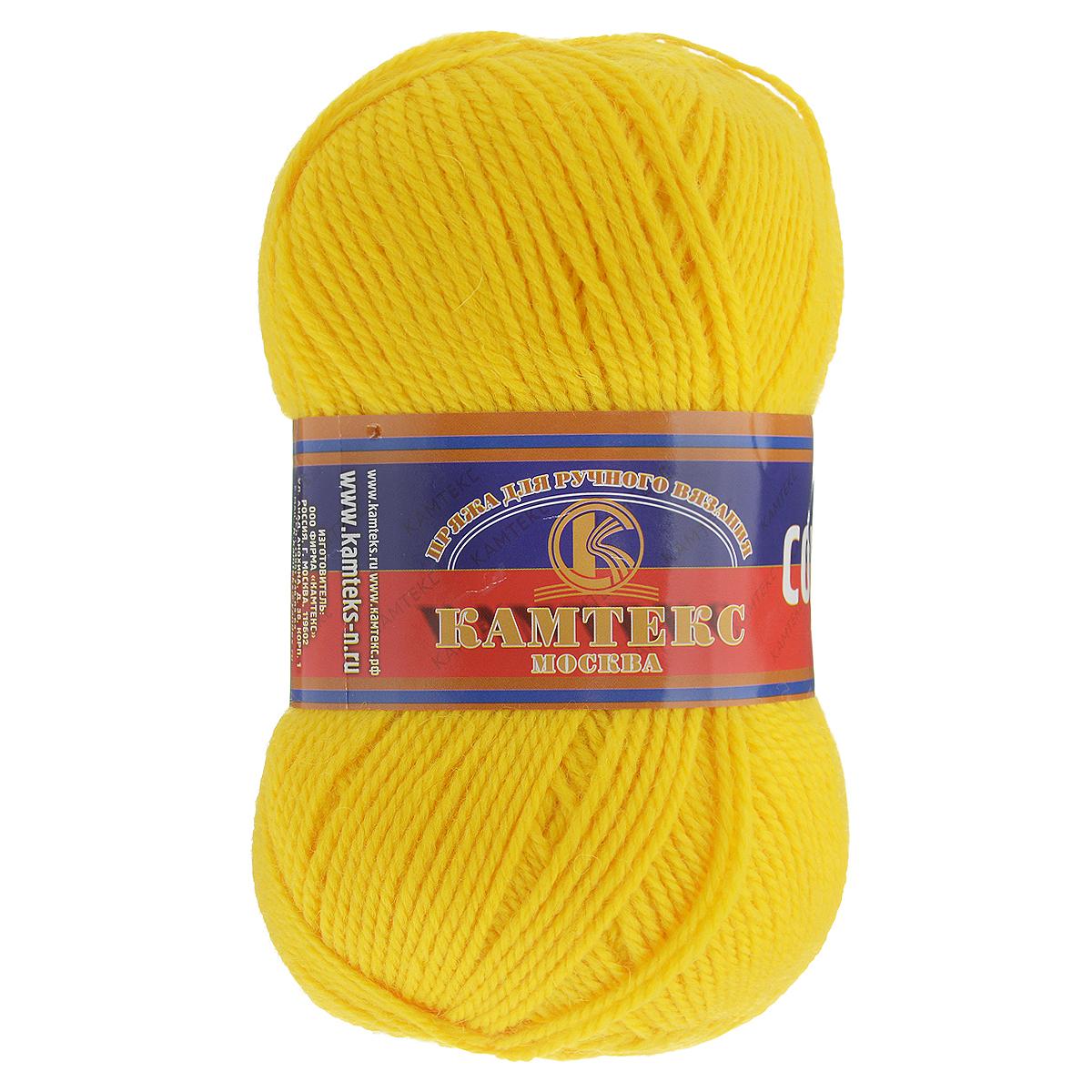Пряжа для вязания Камтекс Соната, цвет: желтый (104), 250 м, 100 г, 10 шт136030_104Пряжа для вязания Камтекс Соната изготовлена из 50% шерсти, 50% акрила. Она вяжется легко и свободно, имеет богатую цветовую гамму от теплых пастельных тонов до ярких и смелых оттенков. Ворсистая ниточка ровно складывается в полотно, которое имеет минимальный процент усадки. Из пряжи Соната прекрасно вяжутся теплые туники, жилеты, свитера, платья и многие другие изделия. Рекомендуемые для вязания спицы и крючки 3-5 мм. Состав: 50% шерсть, 50% акрил. Комплектация: 10 шт. Толщина нити: 2 мм.