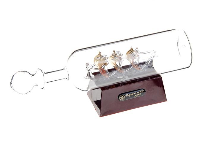 """Sima-land Корабль сувенирный в бутылке """"Держись своего курса"""", с подсветкой, длина 24 см"""