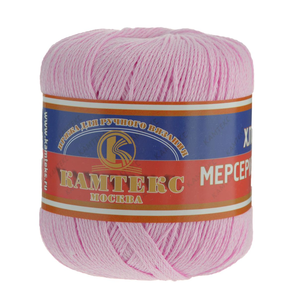 Пряжа для вязания Камтекс Хлопок мерсеризованный, цвет: светло-розовый (055), 200 м, 50 г, 10 шт136093_055Пряжа для вязания Камтекс Хлопок мерсеризованный изготовлена из 100% хлопка. Лучшие свойства хлопка: Хлопок мерсеризованный - благодаря тому, что хлопок прошел обработку под названием мерсеризация, пряжа приобретает блеск, ее легко окрасить в яркие устойчивые цвета; - мерсеризованные нити прочнее обычных, а изделия из них меньше мнутся при носке и не садятся при стирке. Такая пряжа предназначена для вязания блузок, футболок, платьев и многого другого. Связанные вещи отличаются стойким цветом, благородным блеском, экологичностью и долговечностью. Элегантность, прочность, комфорт - приятные свойства новых технологий. Подходит для вязания на спицах и крючках 2-4 мм. Состав: 100% хлопок.