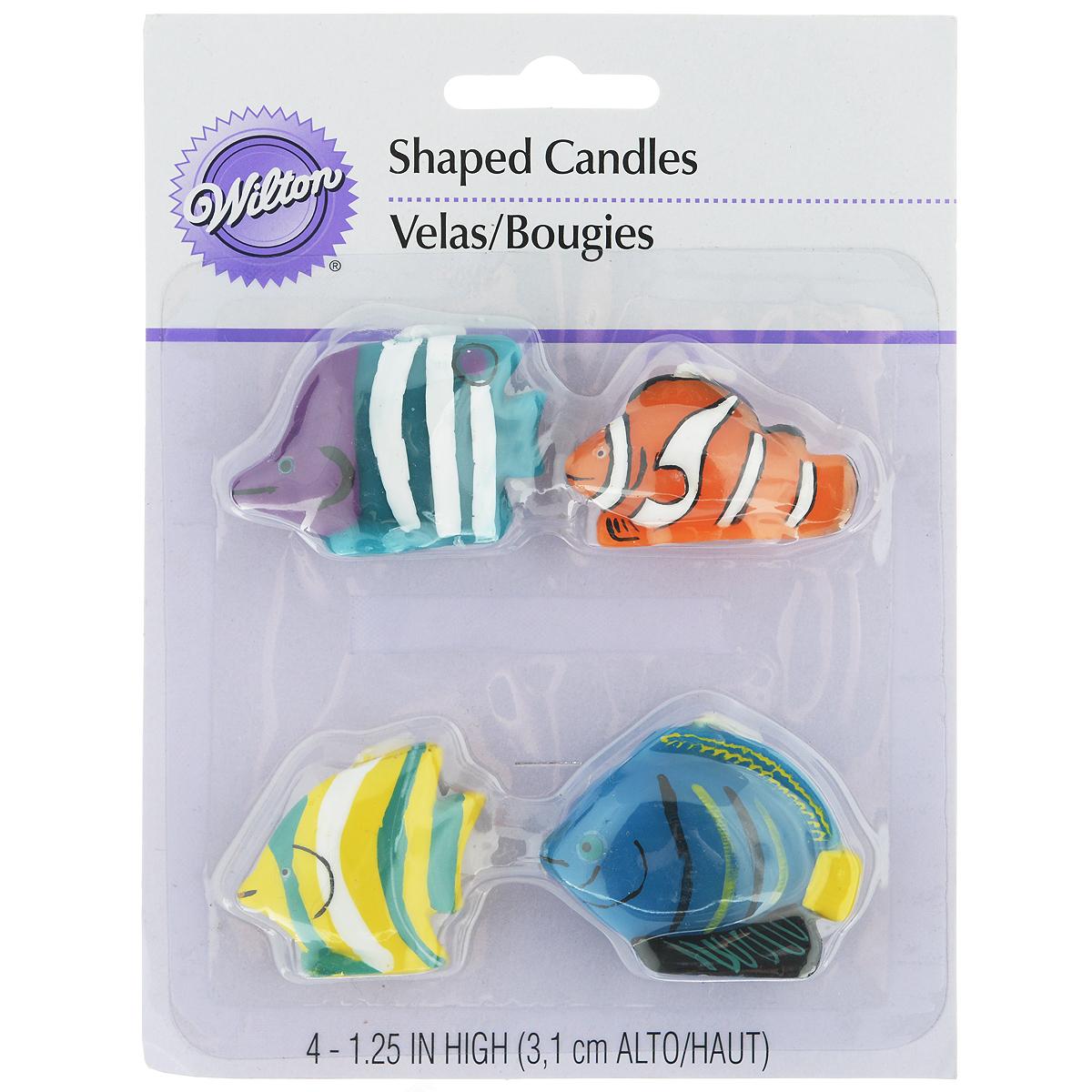 Набор свечей для украшения кондитерских изделий Wilton Тропические рыбки, 4 штWLT-2811-9333