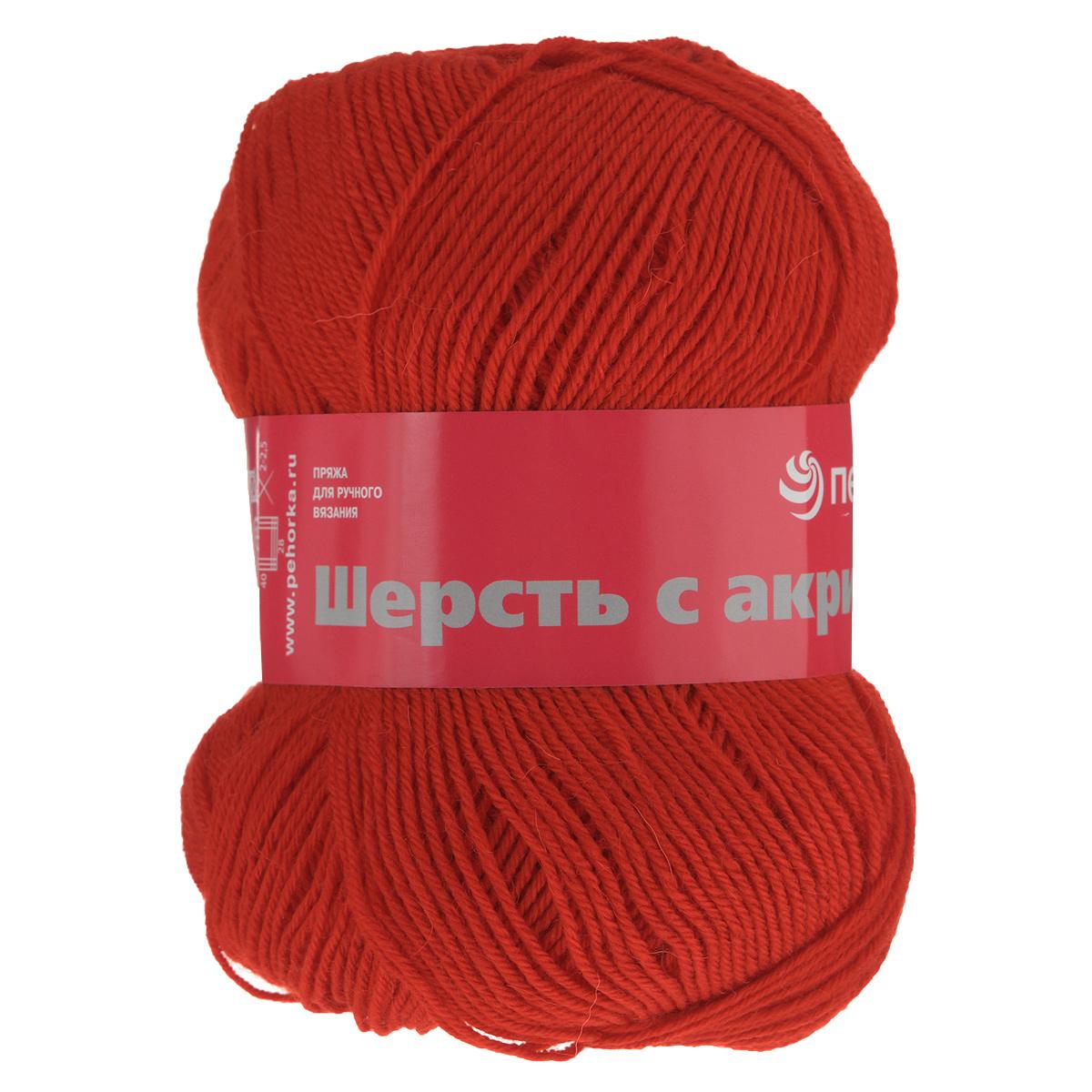 Пряжа для вязания Пехорка Шерсть с акрилом, цвет: красный (88), 300 м, 100 г, 10 шт360081_88_88 красныйПряжа для вязания Пехорка Шерсть с акрилом изготовлена из 50% шерсти и 50% акрила в четыре нити. Пряжа имеет интересное переплетение, стабильна в полотне, ложится красивой и эффектной фактурой. Гигиенична, гигроскопична, приятна для тела. Прекрасный вариант для вязания зимней одежды. Рекомендованы спицы №2 и №2,5. С такой пряжей для ручного вязания вы сможете связать своими руками необычные и красивые вещи. Комплектация: 10 мотков. Толщина нити: 2 мм. Состав: 50% шерсть, 50% акрил.