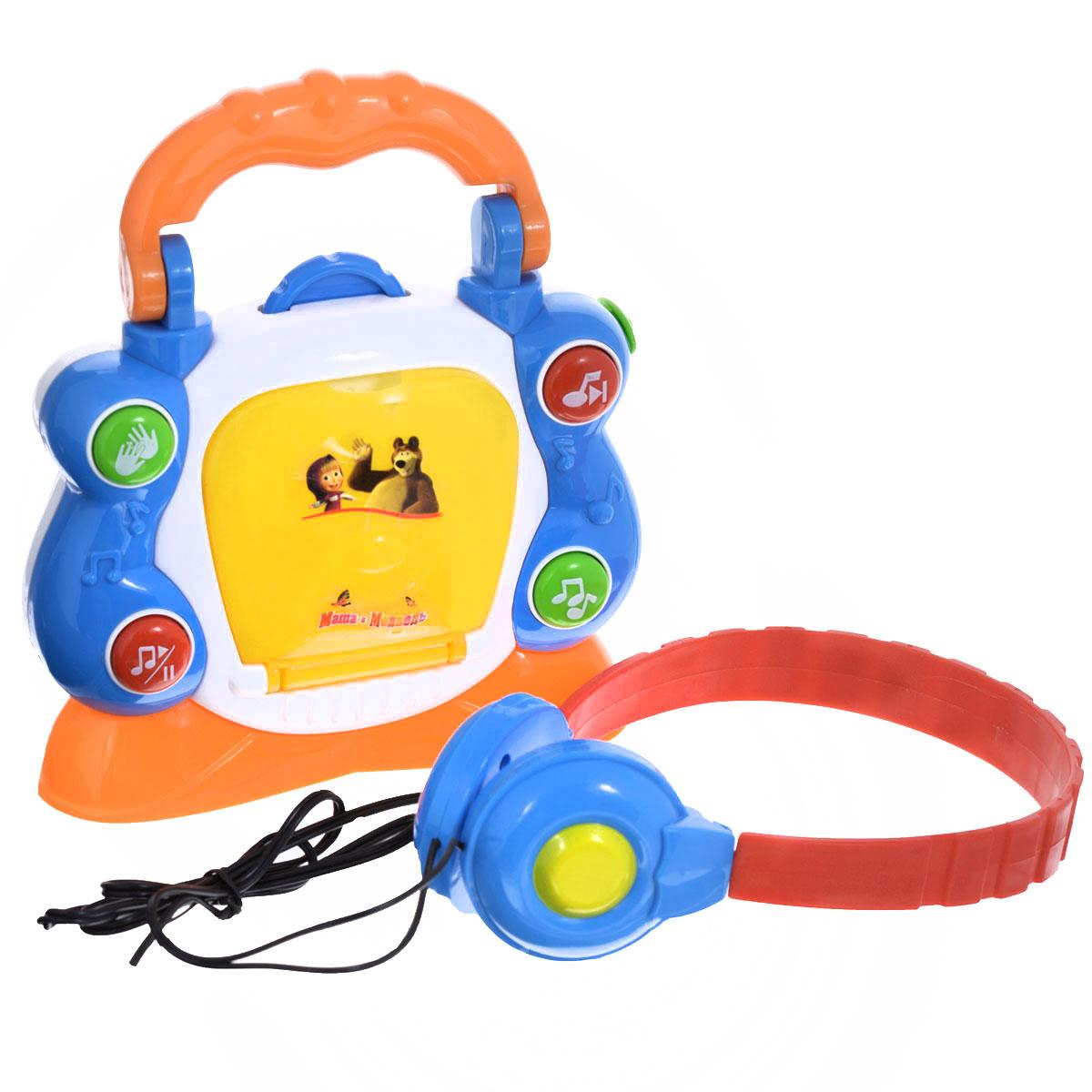 Музыкальная игрушка Играем вместе Электронный CD-плеерWS502Музыкальная игрушка Играем вместе Электронный CD-плеер приведет в восторг любого малыша. Она позволит малышу почувствовать себя совсем взрослым - ведь у него теперь будет собственный CD-плеер. Плеер выполнен из прочного пластика и имеет удобную ручку для переноски. В комплект также входят наушники и 3 пластиковых диска, которые помещаются в контейнер на фронтальной части плеера. Плеер имеет 4 яркие кнопочки, при нажатии на которые раздадутся бурные аплодисменты, зазвучит веселая мелодия или одна из 3 песенок из мультфильма Маша и Медведь. Кнопка Пауза позволяет приостановить воспроизведение музыки. На верхней стороне плеера расположено вращающееся колесико. Игрушка имеет красочный дизайн, а яркие цвета подарят малышу хорошее настроение. Играя с такой игрушкой, ребенок сможет развить цветовое восприятие, мелкую моторику рук, тактильную чувствительность, а также музыкальный слух и чувство ритма. Веселые песенки порадуют малыша и надолго увлекут его. ...