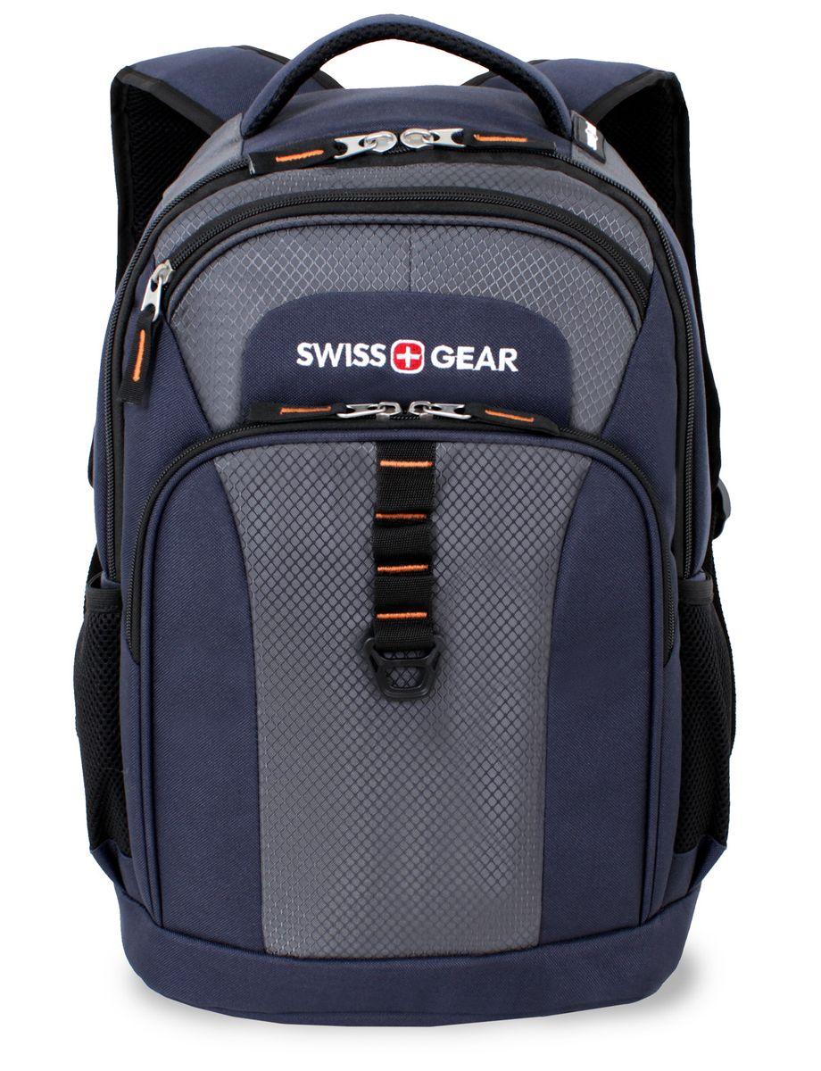 """Рюкзак SwissGear """"Sport Line"""", цвет: синий, серый, 30 см х 18 см х 44 см, 24 л"""