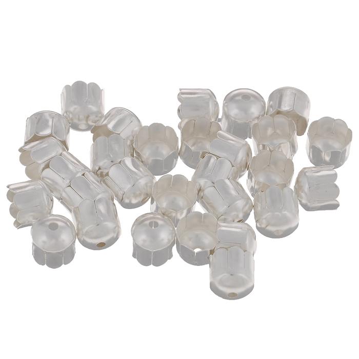 Шапочка для бусин Астра, цвет: серебристый, 10 мм х 9 мм, 30 шт. 77057137705713Набор Астра, изготовленный из металла, состоит из 30 шапочек для бусин. Набор позволит вам своими руками создать оригинальные ожерелья, бусы или браслеты. Шапочки обрамляют бусины и придают законченный красивый вид изделию. Их можно крепить как с одной, так и с обеих сторон бусины. Это прекрасная фурнитура для создания бижутерии. Изготовление украшений - занимательное хобби и реализация творческих способностей рукодельницы, это возможность создания неповторимого индивидуального подарка. Размер: 10 мм х 9 мм.