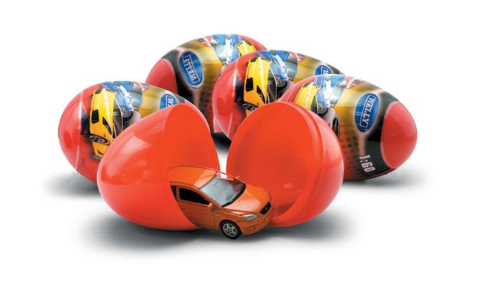 Welly Яйцо-сюрприз с машинкой цвет оранжевый ( 52020E )
