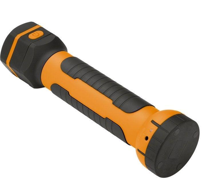 Светодиодный фонарь Defort, аккумуляторный. DDL-36 b98299755Светодиодный фонарь DeFort DDL-36 98299755 - это надежный фонарь используется при освещение в темного помещения, или при работе в темное время суток на участке где нет осветительных приборов. Данный фонарь превосходно подходит для различных поездок и туристических походов или для освещения участка вокруг автомобиля при ремонтных работах. Длина прожектора в сложенном виде: 25,5 см. Длина прожектора в раскрытом виде: 36 см. Диаметр основания: 6,7 см. Напряжение: 3,6 В. Емкость аккумулятора: 1 А/ч. Мощность лампы: 0,4/2 Вт. Сила света: 72/360 Кд. Время зарядки: 5 ч. Масса: 0,31 кг. Комплектация: адаптер, шнур для подключения к прикуривателю, зарядное устройство.