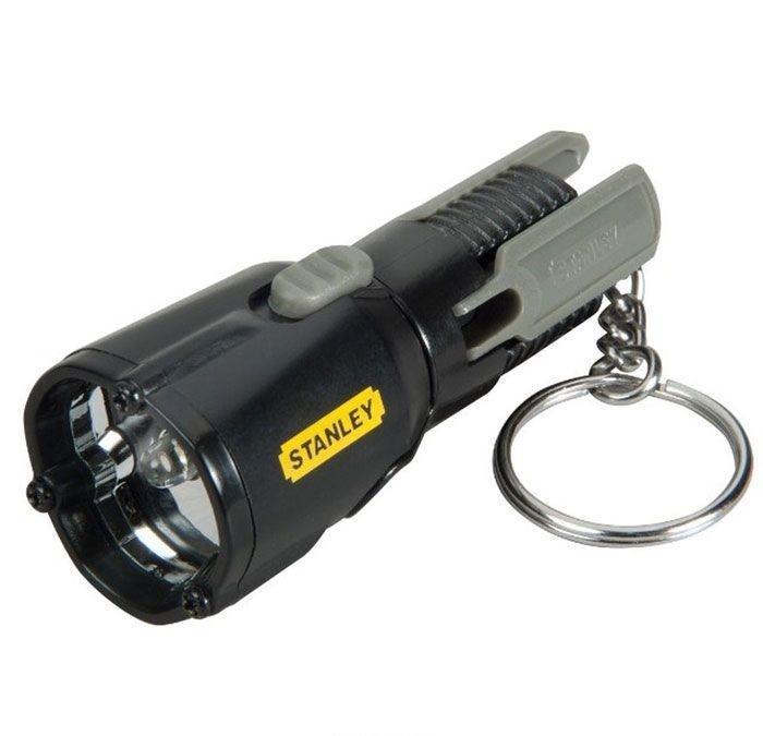 Фонарь-брелок светодиодный Stanley MaxLife Mini Tripod, цвет: черный0-95-113Материал: металл, пластик. Длина фонаря: 7,5 см. Размер в упаковке: 13,8 см х 2,5 см х 9,3 см. Работает от 3 батареек Long Life Lithium (входят в комплект). Один светодиод размером 5мм формирует луч белого цвета. Срок службы светодиода 100,000 часов. Запатентованная конструкция с треногой для удобства использования без рук. Поворотная головка с 3-мя возможными положениями.