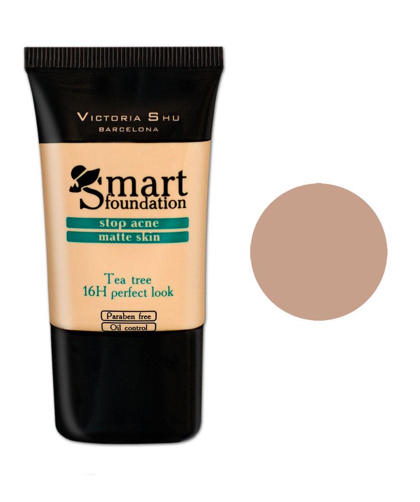 Victoria Shu Тональный крем Smart, тон № 301, 30 мл988V15578Кремообраз- ная текстура идеально выравнивает цвет лица, придавая макияжу законченный вид.