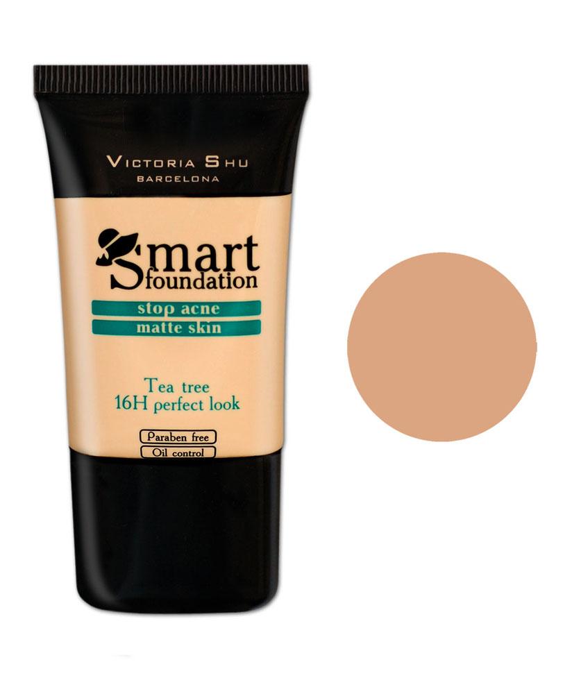 Victoria Shu Тональный крем Smart, тон № 303, 30 мл990V15580Кремообраз- ная текстура идеально выравнивает цвет лица, придавая макияжу законченный вид.