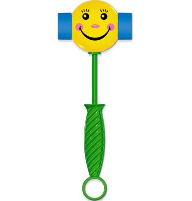 Развивающая игрушка Stellar Веселый молоточек, цвет: зеленый, желтый, голубой01362Яркая развивающая игрушка Stellar Веселый молоточек привлечет внимание вашего малыша и не позволит ему скучать. Она выполнена из безопасного пластика в виде молоточка. Благодаря удобной ручке ребенку будет удобно держать игрушку. При ударе или просто встряске молоточек издает забавные звуки. Игрушка Stellar Веселый молоточек способствует развитию у ребенка цветового и звукового восприятия, мышления, мелкой моторики рук, координации движений и ловкости.