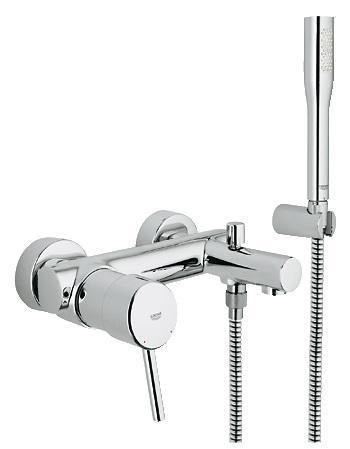 Смеситель для ванны GROHE Concetto new с душевым гарнитуром (32212001)