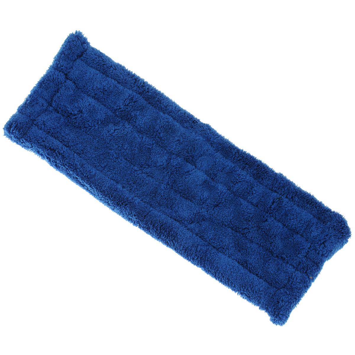Насадка для швабры Home Queen MasterKlass-2, сменная, цвет: синий, длина 40 см50491Насадка для швабры Home Queen MasterKlass-2 изготовлена из микрофибры, обладающей уникальными абсорбирующими и очищающими свойствами. Насадка предназначена для сухой и влажной уборки помещений. Материал не царапает поверхности и отлично впитывает влагу. Насадка легко крепится к платформе посредством липучек. Сменная насадка для швабры Home Queen MasterKlass-2 станет незаменимой в хозяйстве.