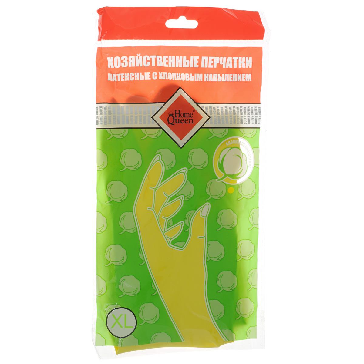 Перчатки латексные Home Queen, с хлопковым напылением. Размер XL57106XLПерчатки Home Queen защитят ваши руки от воздействия бытовой химии и грязи. Подойдут для всех видов хозяйственных работ. Выполнены из латекса с хлопковым напылением.
