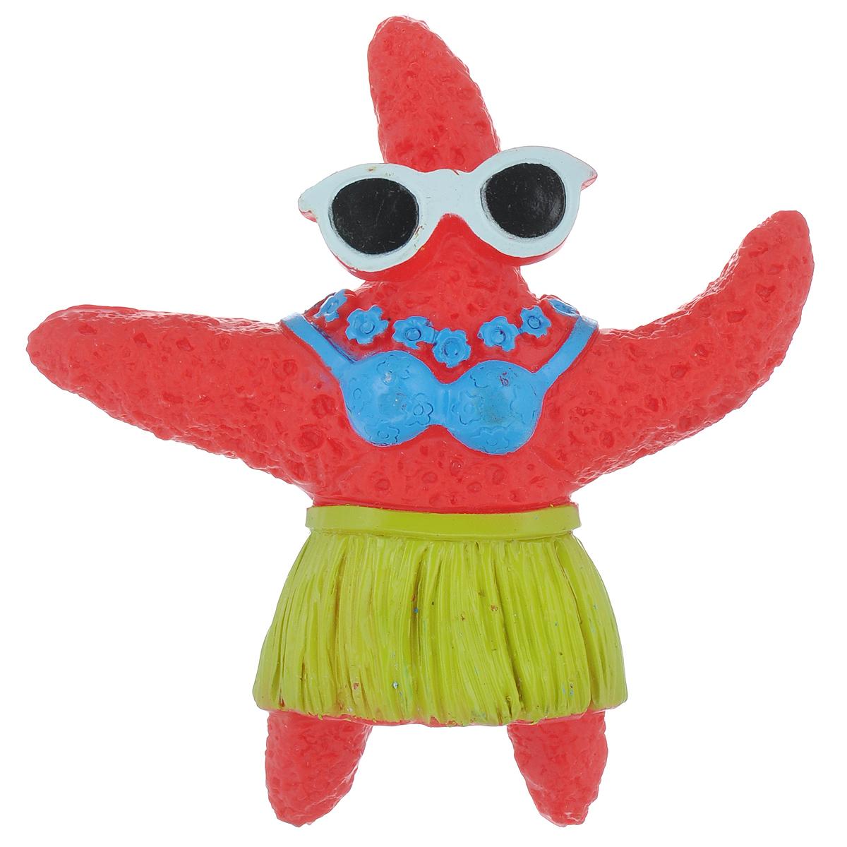 """Игрушка для собак Ziver """"Морская звезда"""", с пищалкой, цвет: красный, высота 12,5 см 40.ZV.055"""