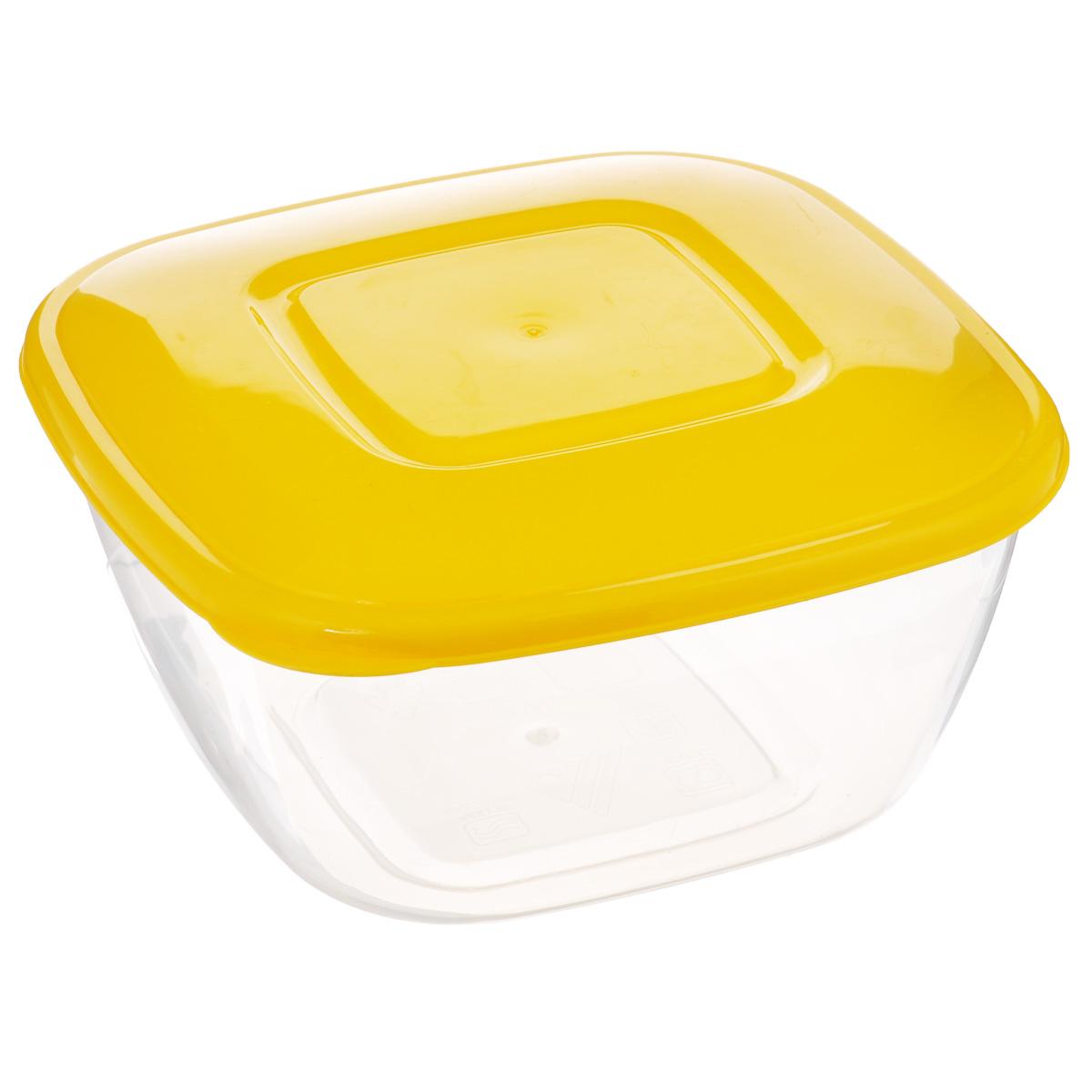 Емкость для СВЧ Альтернатива, цвет: прозрачный, желтый, 2 лМ408Круглая емкость для СВЧ Альтернатива, выполненная из пластика, предназначена специально для хранения пищевых продуктов. Крышка легко открывается и плотно закрывается. Устойчива к воздействию масел и жиров, легко моется .Прозрачные стенки позволяют видеть содержимое. Емкость необыкновенно удобна: в ней можно брать еду на работу, за город, ребенку в школу. Именно поэтому подобные емкости обретают все большую популярность. Размер емкости: 20 см х 20 см х 9 см. Можно мыть в посудомоечной машине.