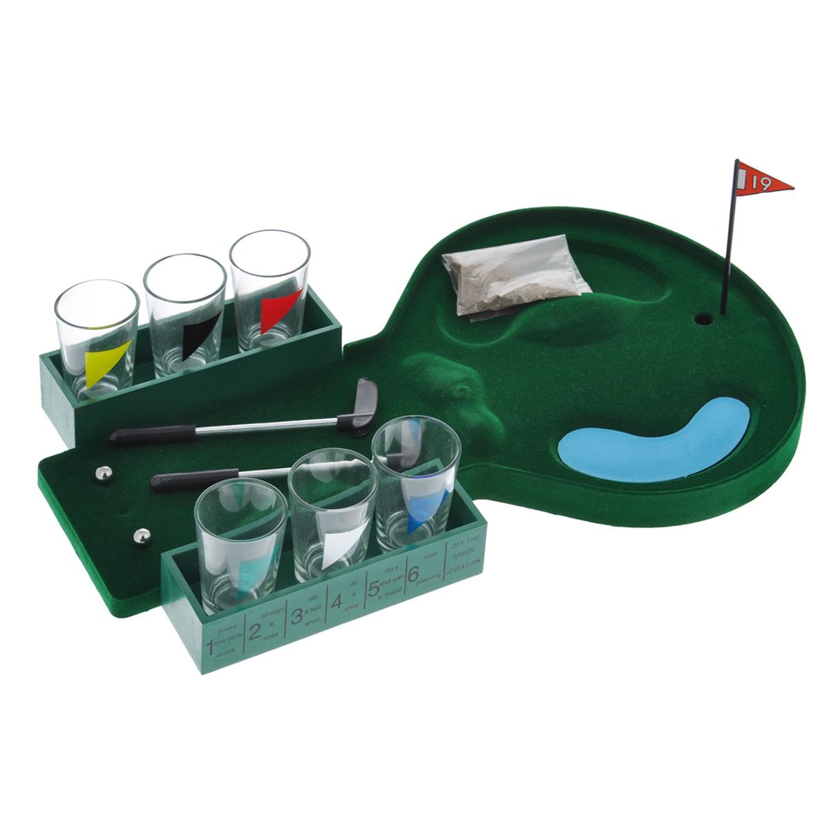 Пьяный гольф со стопками Эврика