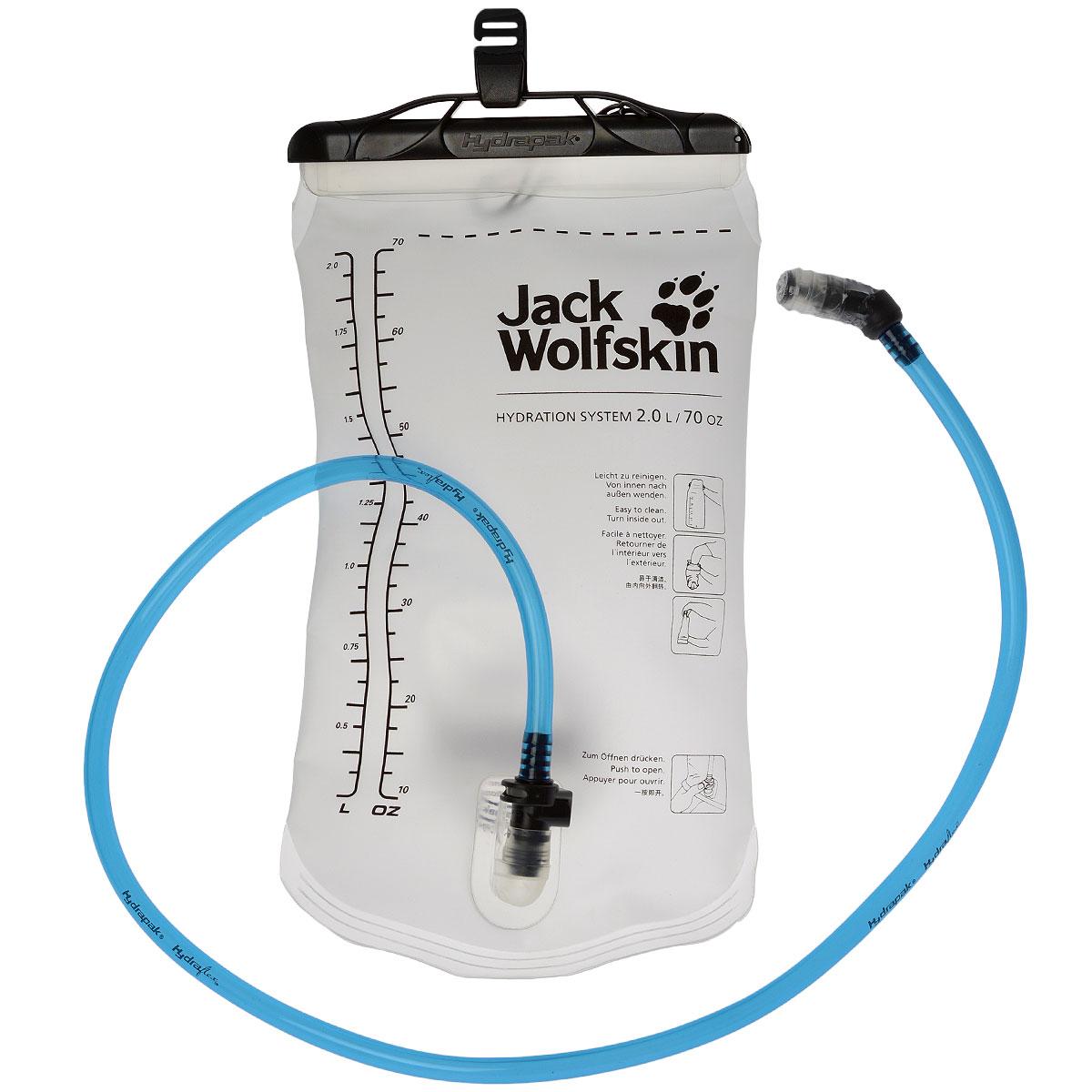 Питьевая система Jack Wolfskin Hydration System, цвет: прозрачный, 2 л8001091-0001Питьевая система Jack Wolfskin Hydration System помогает непрерывно восполнять потери влаги при занятиях спортом на выносливость. Его можно удобно закрепить в рюкзаке. Шланг через отверстие выходит наружу. Так можно в любое время пить в путешествии, не останавливаясь. Материал резервуара для воды и трубки не дает посторонних привкусов, разрешенный для контакта с пищевыми продуктами и легко моется.