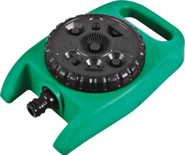 Распылитель стационарный Fit, 8 режимов77358На подставке. 8 режимов. Применяется для орошения почвы.Присоединяется к шлангу при помощи универсального соединителя. Совместим со всеми элементами аналогичной поливочной системы. При помощи вращения поливочной головки распылителя осуществляется выбор ре Характеристики: Материал: пластик. Размеры распылителя: 11 см x 19 см x 5 см. Размер упаковки: 28 см х 19 см х 5 см.