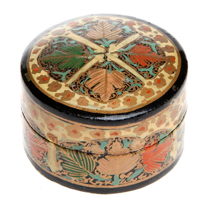 Шкатулка для мелочей. Папье-маше, лак, роспись. Западная Европа, первая половина ХХ века