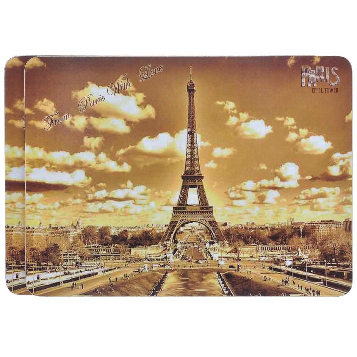 Набор подставок под горячее GiftnHome Из Парижа с любовью, 29 х 21,5 см, 2 штPLM-02-Parislove-VНабор GiftnHome Из Парижа с любовью, выполненный из пробки, состоит из двух подставок под горячее. Изделия, декорированные изображением Эйфелевой башни, идеально впишутся в интерьер современной кухни. Каждая хозяйка знает, что подставка под горячее - это незаменимый и очень полезный аксессуар на каждой кухне. Ваш стол будет не только украшен оригинальными подставками с красивыми рисунками, но и сбережен от воздействия высоких температур ваших кулинарных шедевров. Размер подставки: 29 см х 21,5 см.