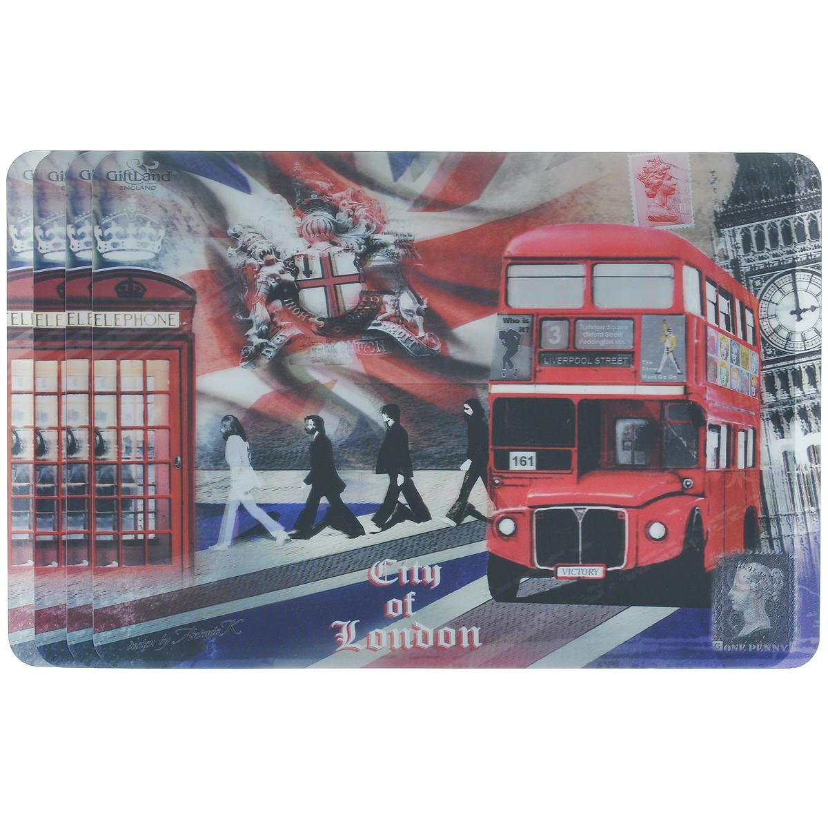 Набор сервировочных салфеток 3D GiftLand Лондонские фантазии, 34,5 х 24,5 см, 4 шт3D-09 LondonНабор GiftLand Лондонские фантазии, изготовленный из полипропилена, состоит из четырех сервировочных салфеток с эффектом 3D. Такие салфетки - это отличная идея для сервировки! Салфетки декорированы ярким объемным изображением лондонской улицы. Изделия защищают поверхность стола от воздействия температур, влаги и загрязнений, а также украшают интерьер. Могут использоваться для детского творчества (рисования, лепки из пластилина) в качестве защитного покрытия, подставки под вазы, кухонные приборы. Размер салфетки: 34,5 см х 24,5 см.