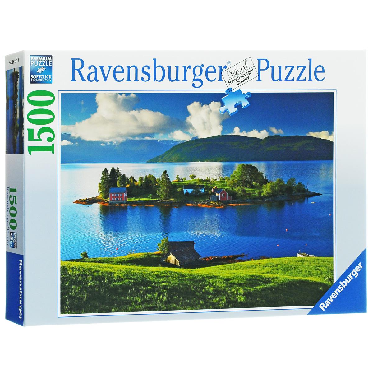 Ravensburger Остров в Норвегии. Пазл, 1500 элементов16257Пазл Ravensburger Остров в Норвегии, без сомнения, придется по душе вам и вашему ребенку. Собрав этот пазл, включающий в себя 1500 элементов, вы получите потрясающую картину с изображением небольшого норвежского островка. Такие островки, расположенные вдоль длинного побережья Норвегии, зачастую являются домом для рыбаков. Каждая деталь имеет свою форму и подходит только на своё место. Нет двух одинаковых деталей! Пазл изготовлен из картона высочайшего качества. Все изображения аккуратно отсканированы и напечатаны на ламинированной бумаге. Пазлы - прекрасное антистрессовое средство для взрослых и замечательная развивающая игра для детей. Собирание пазла развивает у ребенка мелкую моторику рук, тренирует наблюдательность, логическое мышление, знакомит с окружающим миром, с цветом и разнообразными формами, учит усидчивости и терпению, аккуратности и вниманию. Собирание пазла - прекрасное времяпрепровождение для всей семьи.