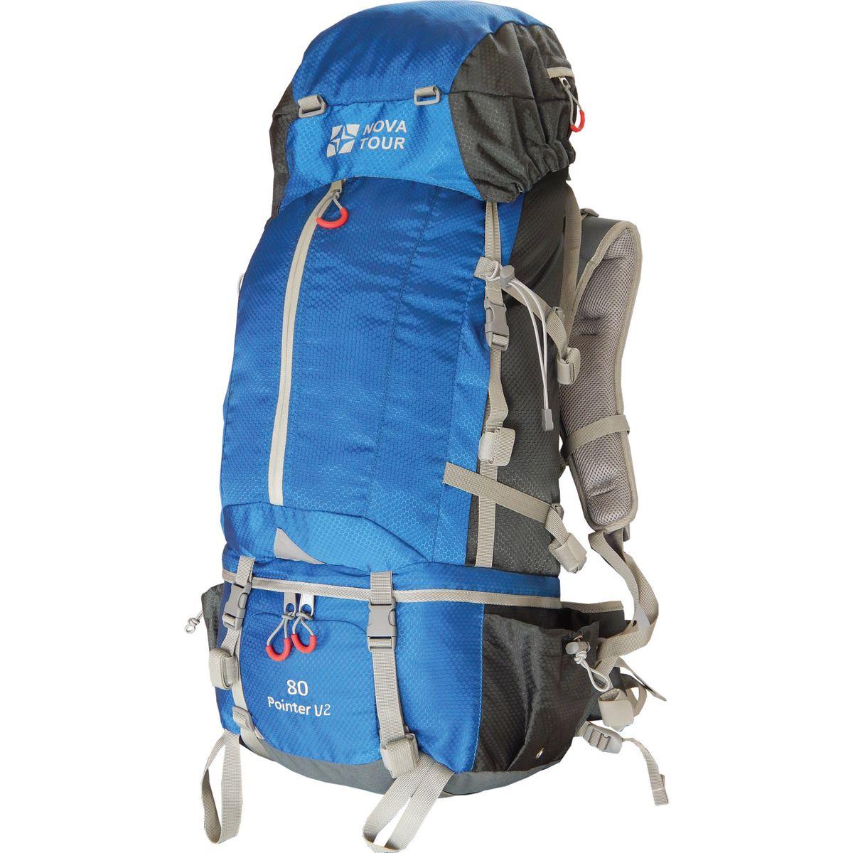 Рюкзак Nova Tour Пойнтер 80 V2, цвет: серый, синий, 80 л