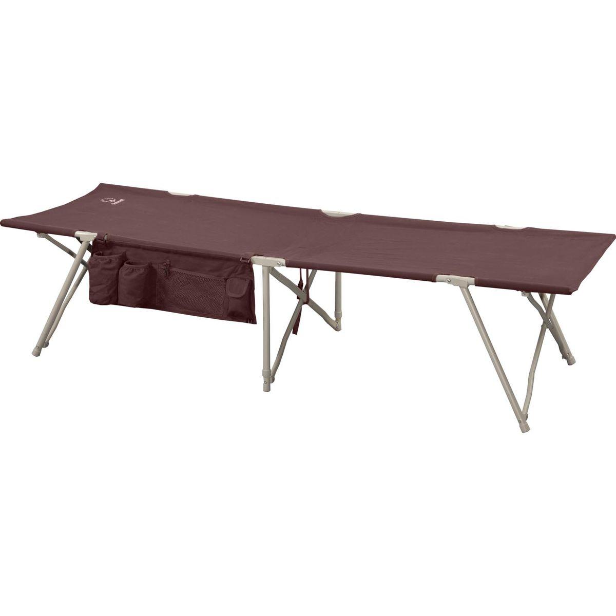 Кровать складная Greenell BD-3, цвет: зеленый, 190 см х 64 см х 43 см71161-232-00Удобная и компактная кровать для кемпинга Greenell BD-3 отличается совершенным механизмом, простотой сборки- разборки и малыми габаритами в сложенном виде. Кровать выполнена из прочного полиэстера. Каркас - сталь диаметром 16 мм. В комплект входит чехол для хранения и переноски.