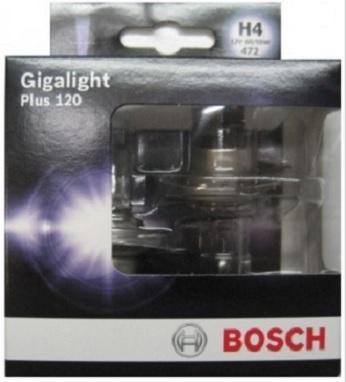 Лампа Bosch GIGALIGHT+120 H4 12V 60/55W (DP) 19873011061987301106ЛАМПА H4 12V 60/55W GIGALIGHT+120 (DP)