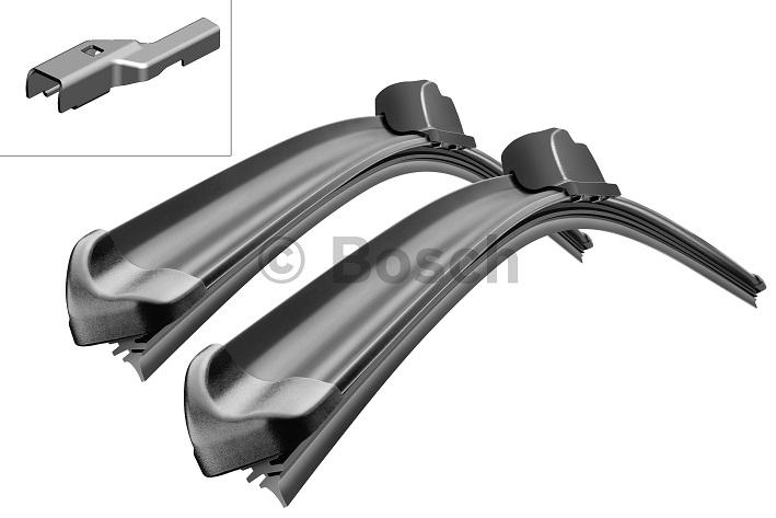 Щетки стеклоочистителя BOSCH Aerotwin A225S, 650 мм / 530 мм, бескаркасная, 2 шт3397007225Citroen,Fiat, Peugeot Тип крепления - 2