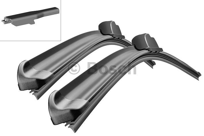 Щетки стеклоочистителя BOSCH Aerotwin A256S, 700 мм / 550 мм, бескаркасная, 2 шт3397007256Citroen,Opel Тип крепления - 4