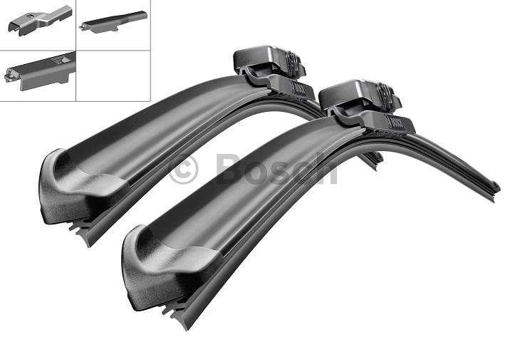 Щетки стеклоочистителя BOSCH Aerotwin A292S, 600 мм / 380 мм, бескаркасная, 2 шт3397007292Fiat,Nissan Тип крепления - 2,4,8