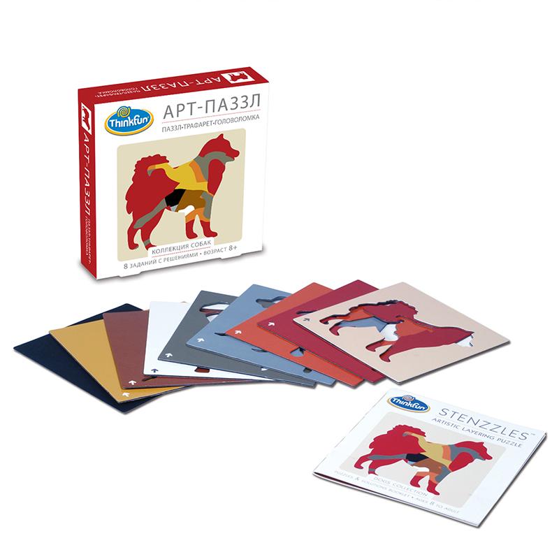 Thinkfun Пазл Коллекция собак4801-RUПеред вами - увлекательный пазл-головоломка. Эта головоломка заставит вашего ребенка всерьез задуматься над ней и потратить время на поиск решений. Кроме того, эту игрушку можно использовать как трафарет и нарисовать с ее помощью красивых собачек. В наборе вы найдете инструкцию и восемь заданий с решениями для них.