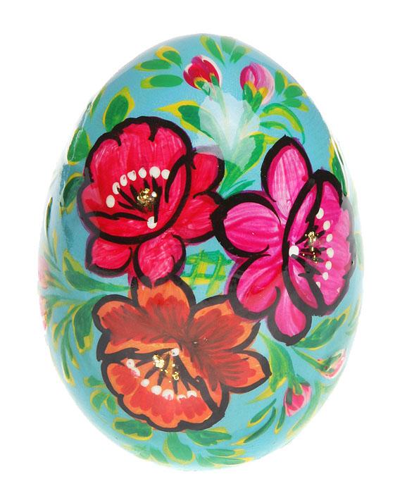 Яйцо пасхальное. Дерево, роспись, лак. Россия, 2000-е гг.