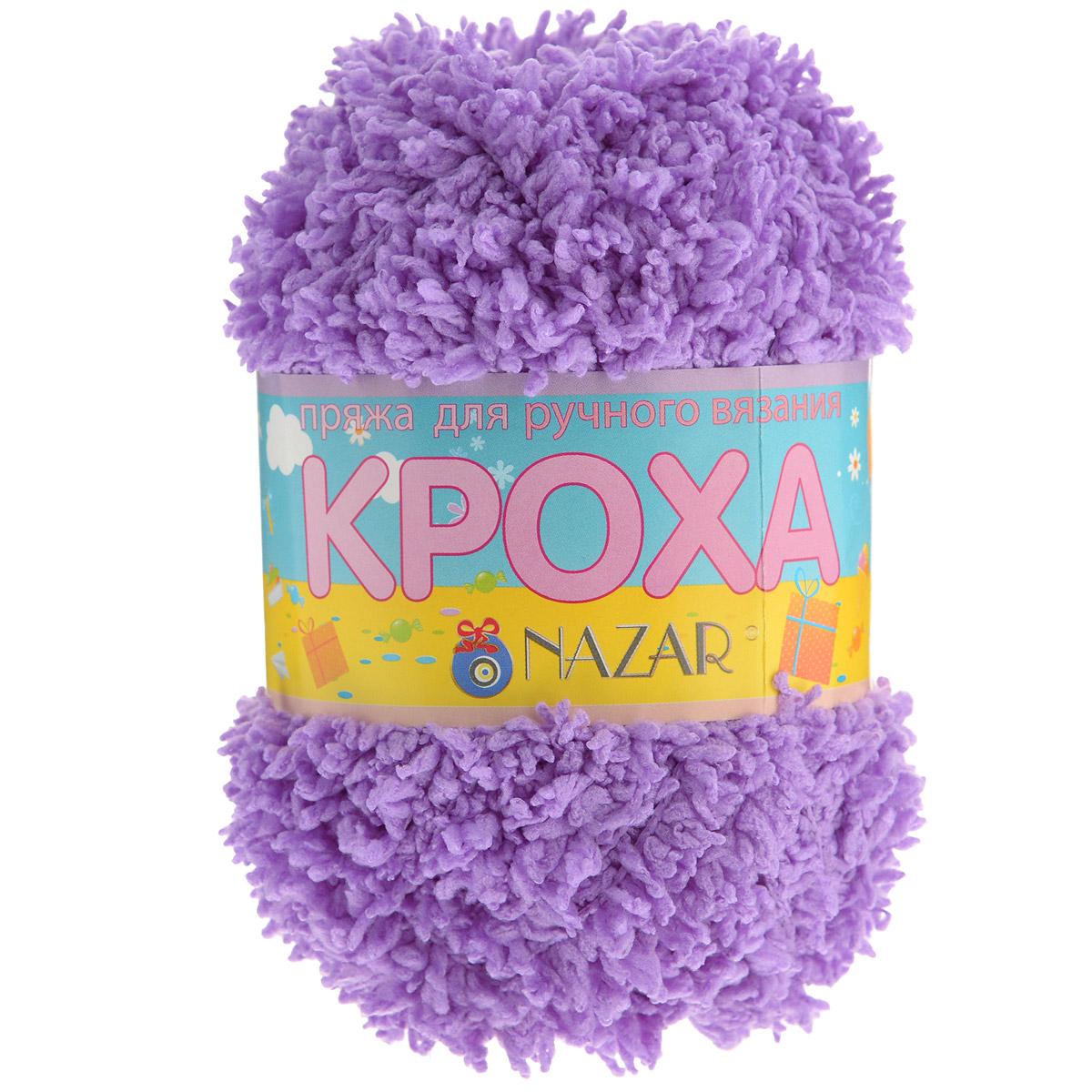 Пряжа для вязания детская Nazar Кроха, цвет: сиреневый (517), 75 м, 50 г, 10 шт349017_517Nazar Кроха - это фантастически мягкая пряжа, изготовленная из 100% микрополиэстера. Такая пряжа идеально подойдет для изготовления игрушек или детской одежды. Изделия практичны в носке и уходе. Рекомендуется вязать спицами платочной или чулочной вязкой (кулинарная гладь). Комплектация: 10 мотков. Состав: 100% микрополиэстер.