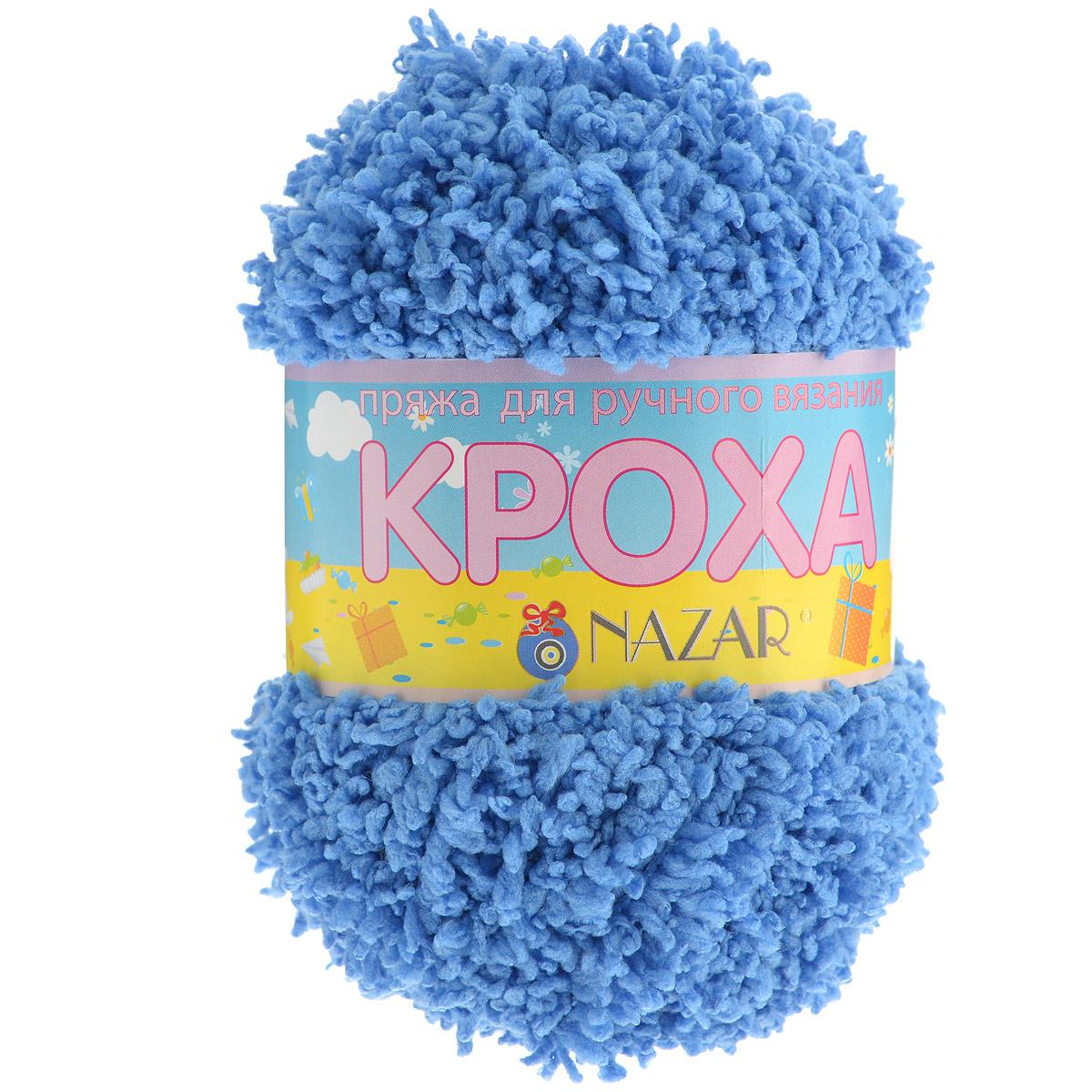 Пряжа для вязания детская Nazar Кроха, цвет: голубой (В06), 75 м, 50 г, 10 шт349017_В06Nazar Кроха - это фантастически мягкая пряжа, изготовленная из 100% микрополиэстера. Такая пряжа идеально подойдет для изготовления игрушек или детской одежды. Изделия практичны в носке и уходе. Рекомендуется вязать спицами платочной или чулочной вязкой (кулинарная гладь). Комплектация: 10 мотков. Состав: 100% микрополиэстер.