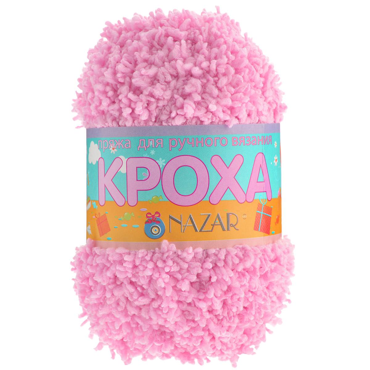 Пряжа для вязания детская Nazar Кроха, цвет: розовый (6005), 75 м, 50 г, 10 шт349017_6005Nazar Кроха - это фантастически мягкая пряжа, изготовленная из 100% микрополиэстера. Такая пряжа идеально подойдет для изготовления игрушек или детской одежды. Изделия практичны в носке и уходе. Рекомендуется вязать спицами платочной или чулочной вязкой (кулинарная гладь). Комплектация: 10 мотков. Состав: 100% микрополиэстер.