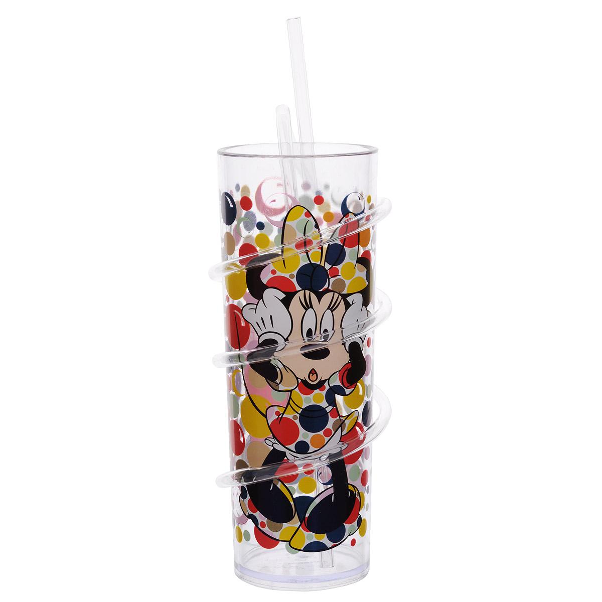 Бокал Disney Минни Маус, с витой соломинкой, 330 мл. 535M1535M1Бокал Disney Минни Маус изготовлен из прозрачного пищевого пластика, имитирующего стекло. Это очень удобно и безопасно, так как пластик не бьется. Изделие декорировано красочным изображением Минни Маус, что обязательно понравится малышу и сделает бокал его самым любимым. Съемная витая соломинка позволяет вдоволь насладиться любимым или не очень напитком, превратив все в игру, ведь так интересно наблюдать, как жидкость проходит через всю соломинку. Бокал подходит холодных и горячих напитков до 85°С. Для детей от 3-х лет. Не рекомендуется ставить в СВЧ и мыть в посудомоечной машине. Изготовлено по лицензии Walt Disney.