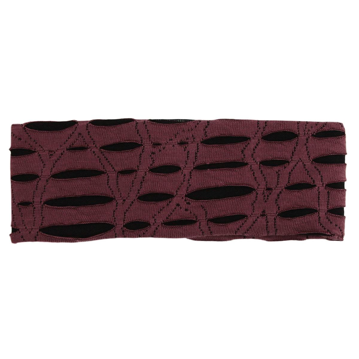 "Повязка для волос ""Fashion House"", цвет: бордовый. FH28008"