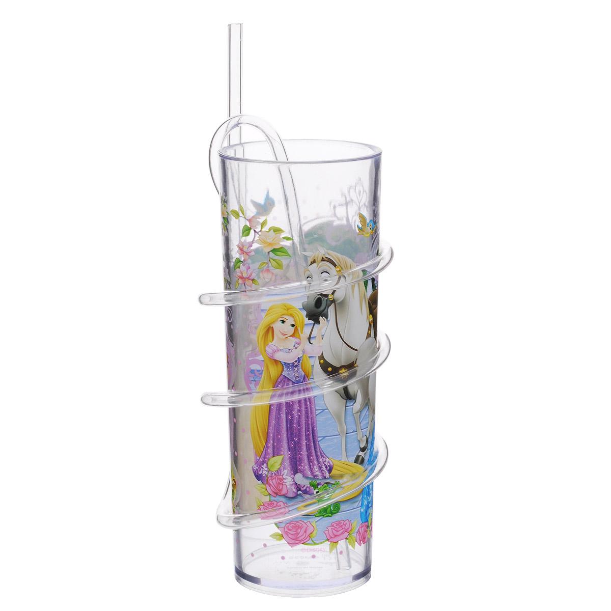 Бокал Disney Принцессы, с витой соломинкой, 330 мл535P1Бокал Disney Принцессы изготовлен из прозрачного пищевого пластика, имитирующего стекло. Это очень удобно и безопасно, так как пластик не бьется. Изделие декорировано красочным изображением Рапунцель, Золушки и Бэлль, что обязательно понравится вашей малышке и сделает бокал ее самым любимым. Съемная витая соломинка позволяет вдоволь насладиться любимым или не очень напитком, превратив все в игру, ведь так интересно наблюдать, как жидкость проходит через всю соломинку. Бокал подходит холодных и горячих напитков до 85°С. Для детей от 3-х лет. Не рекомендуется ставить в СВЧ и мыть в посудомоечной машине. Изготовлено по лицензии Dream Works.
