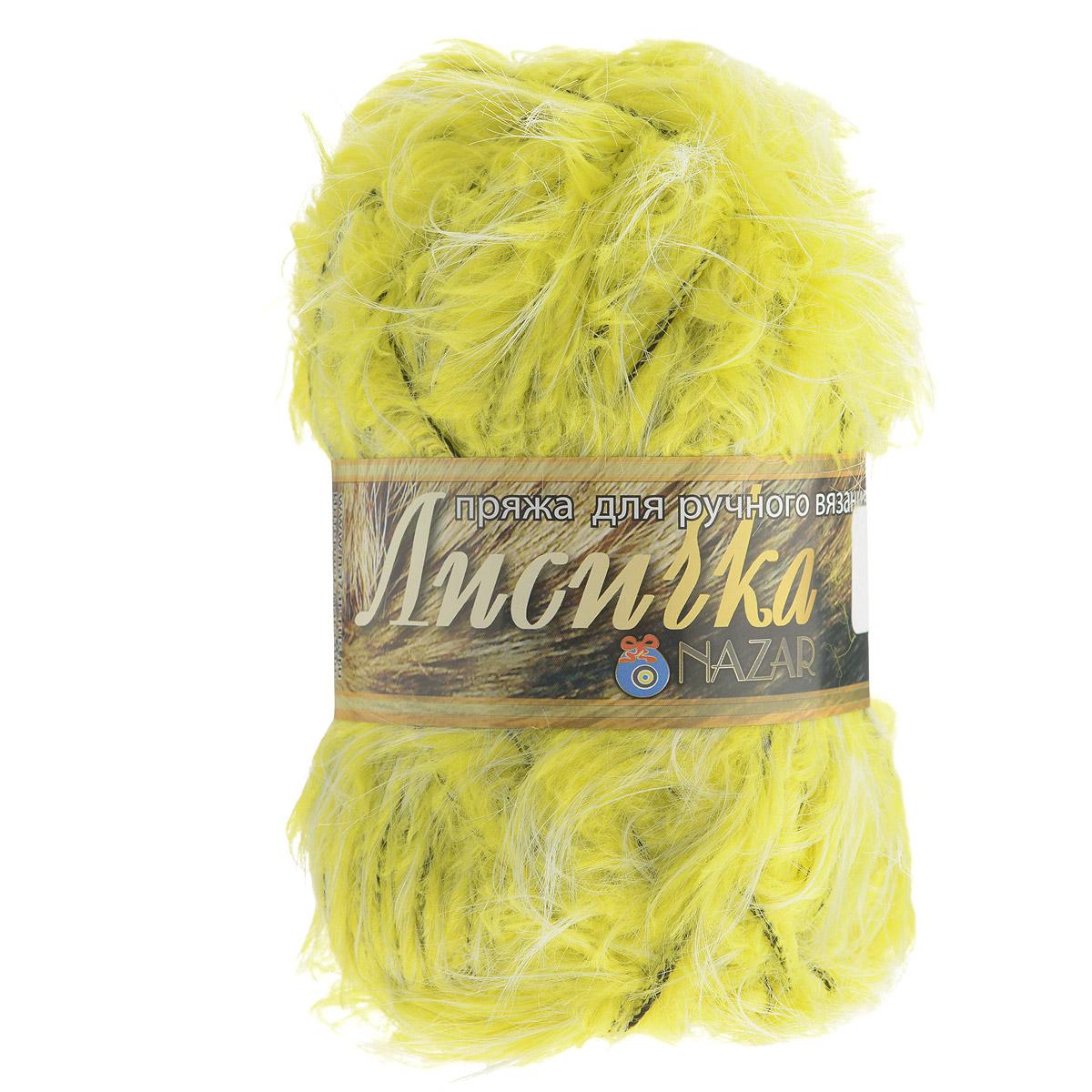Пряжа для вязания Nazar Лисичка, цвет: лимонный (009), 100 г, 90 м, 5 шт688122_009