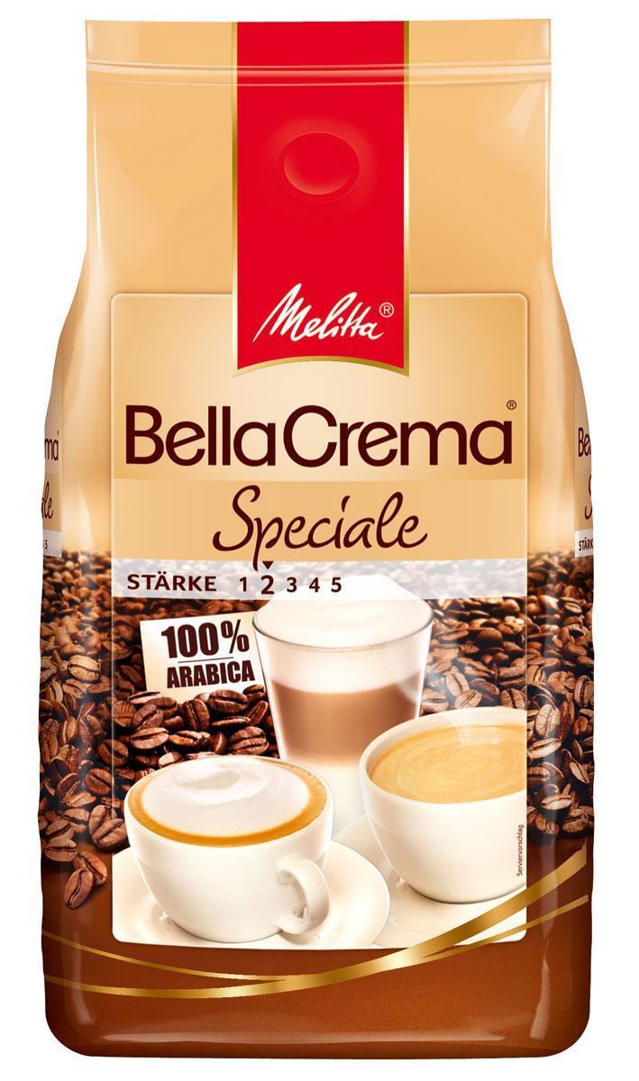 Melitta Bella Crema Speciale кофе в зернах, 1 кг01850Кофе натуральный, жареный, в зернах Melitta Bella Crema Speciale. Чистый сорт Арабика. Идеален для крепких кофейных напитков с использованием молока (латте, гляссе, кофе фредо и др.). Специальная смесь сортов кофе придает терпкий и сильный вкус для истинных ценителей кофе. Низкая прожарка. Предназначен для приготовления кофе в кофеварках и кофемашинах. Черный кофе из этих зерен идеален с твердыми пряными сырами, копчеными колбасами и рыбой.